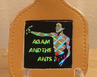 Vintage Adam And The Ants Genuine Leather Key Fob