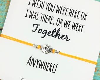 Compass Friendship Bracelet | Long Distance Friend | Best Friend Gift | BFF Compass Bracelet | Gift for Best Friend | Birthday Gift