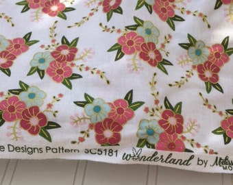Wonderland by Melissa Mortenson for Riley Blake Designs/SC5181/floral fabric with gold metallic