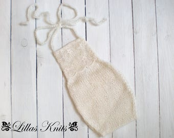 Romper-Photo props-Newborn mohair romper-Mohair lace romper-Photography outfit-Handmade knitted romper-Italian mohair yarn-Baby girl
