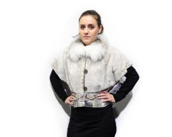 Real Mink Fur With Leather Jacket,Short Fur Jacket F426