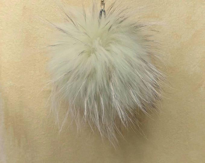Fox Fur Pom Pom, Bag Pom Pom,Fur keychain F651