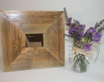 Recycled small decorative wall mirror - handmade
