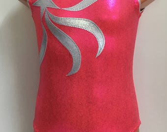 Gymnastics or Dance Leotard with Shooting Star - Choose from 32 Colors - Sizes: 2T, 3T, Girls 4 - 16, Adult XS - XL