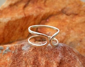 Destiny Sterling Silver Handmade Ring  - Simple Sterling Silver Ring - Birthday gift ring - Gift Ring for Her -  Silver Destiny Ring