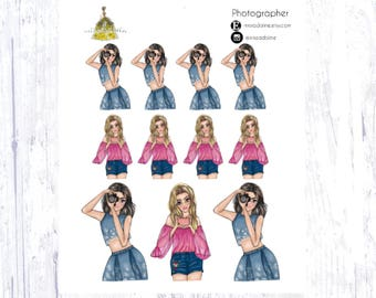 Photographer Sticker Set
