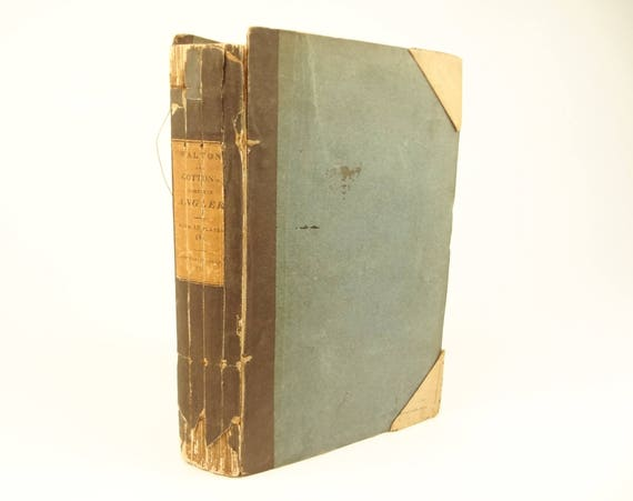 1822 The Complete (Compleat) Angler, Izaak Walton and Charles Cotton. Original boards. 15 plates.