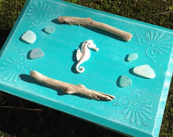 box, box jewelry themed hypoccampe sea wood and Driftwood