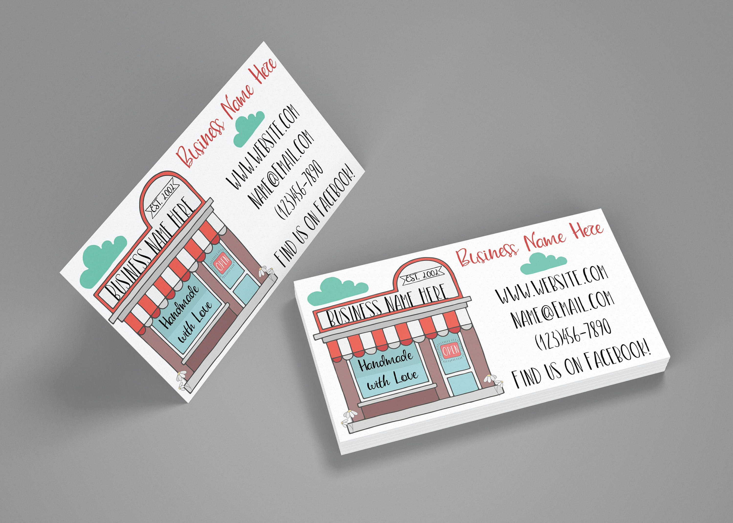 Business Cards - My Shop Business Cards - My Shop - Retailer ...
