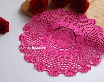 Rose Crochet Doily, Round crochet doily, Handmade doily, crochet lace doily, Crochet table decoration, Crochet item, easter doily