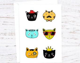 Cool Cat  Greetings Card - February - Events - A6 - Cat Lovers