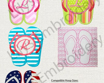 Machine Embroidery Design Flip Flop Collection -   5 designs  ( 18 in total)