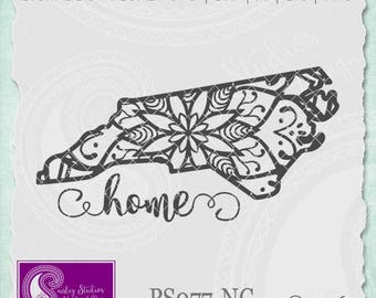 North Carolina Mandala Svg, North Carolina State SVG, North Carolina SVG, North Carolina State Pride, Silhouette Cut File, Cricut Cut File