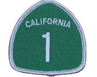 Highway 1 California Patch (Iron On)