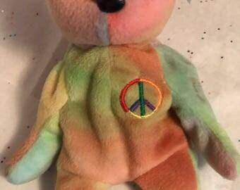 Peace the Bear Beanie Baby