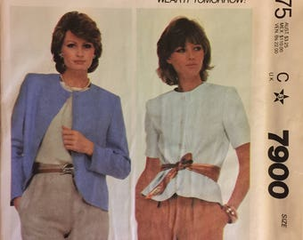 """Rare VTG 7900 McCalls (1982). Make it Tonight.  Misses' jacket.  Size 8, Bust 31-1/2"""".  Complete, unused, FF. Excellent condition."""