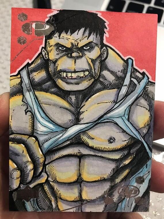 Marvel Premiere 2017 Sketch Card: The Hulk