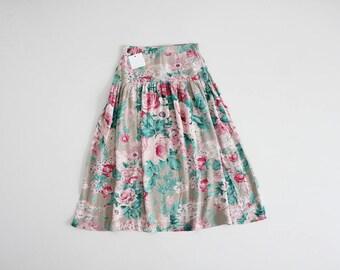 rose print skirt | floral skirt | cabbage rose print