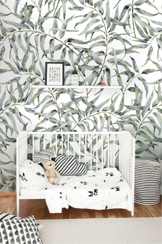 Eucalyptus leaf removable wallpaper Jungle temporary
