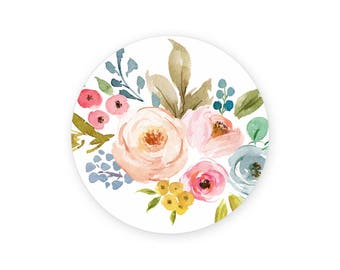 Floral Popsocket Skin STICKER, Stickers for Popsockets, Phone Stickers, Mini Stickers, Popsocket Stickers, Pop Socket Sticker
