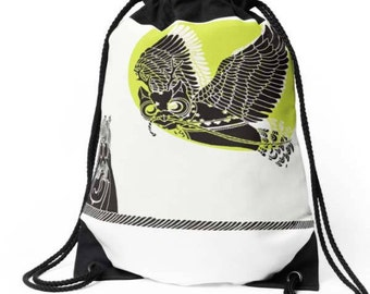 Owl Drawtring Bag