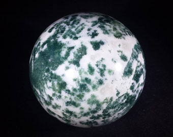 LARGE TREE AGATE Sphere Natural Stone Hand Carved Gemstone Sphere [9]