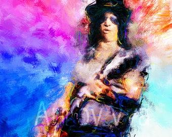Slash guns n roses guns n' roses guitar music rock n roll gnr rock art rock music slash art rock slash poster art print poster saul hudson