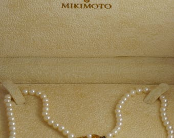 Authentic Mikimoto 5-5.5mm Cultured Akoya Pearl Strand Princess Length Necklace