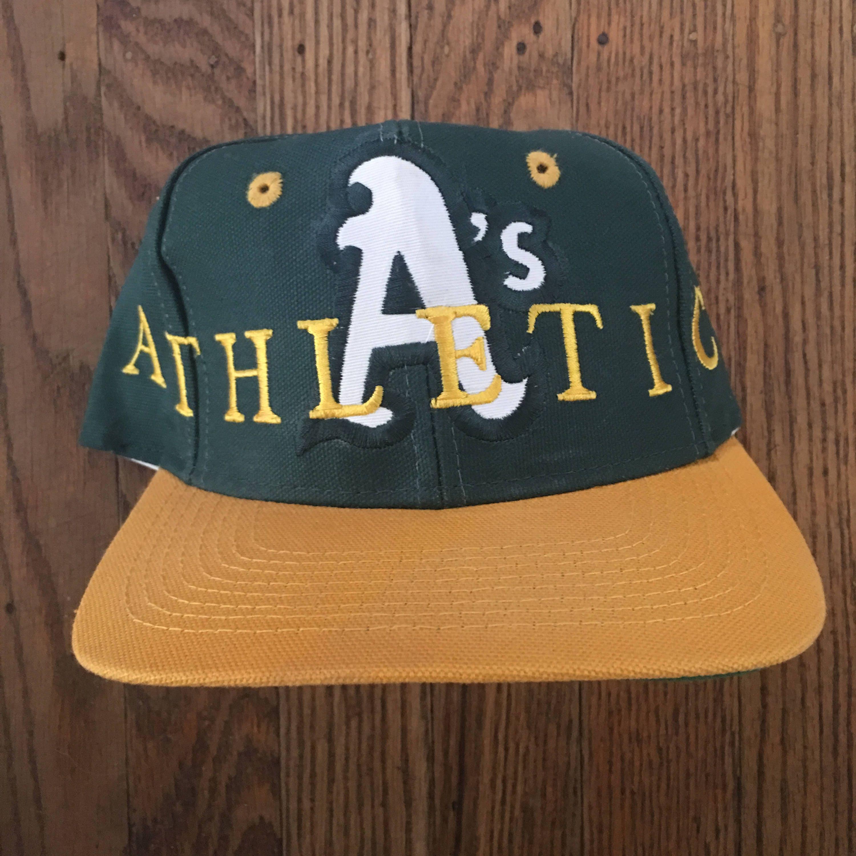 ced76403a30 Vintage 90s The Game Oakland Athletics MLB Snapback Hat Baseball Cap ...