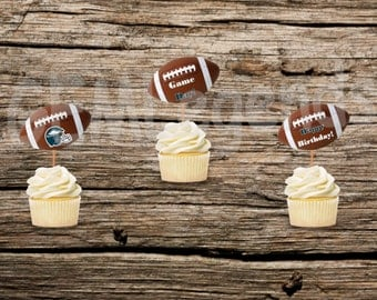 Philadelphia Eagles Cupcake Toppers, Eagles Cupcake Toppers, Eagles Birthday Party, Eagles Party,NFL Party, NFL Birthday,Instant Printable