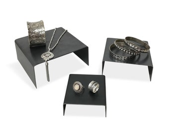 Steel Display Risers set - Jewelry Display or product display for Craft Show Display or Retail Display
