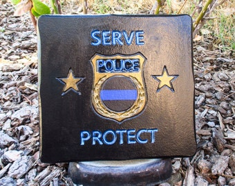 Police gifts - Police officer gifts - Wall decor - Police officer decor - Police officer sign - Thin blue line - Police gifts personalized
