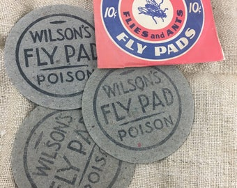 vintage NOS package of 3 WILSON's FLY Pads Poison Oddity