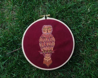 Owl, Embroidery Design, Home Decor, Embroidery Hoop