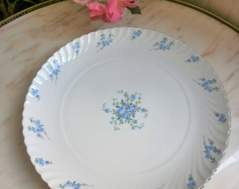 Vintage ROYAL TETTAU Bavaria Germany Big Round Meat Dish //Myosotis//Forget Me Not / / Vintage meat platter //Grand flat