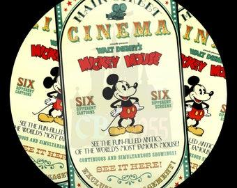 """3"""" Main Street Cinema Button"""