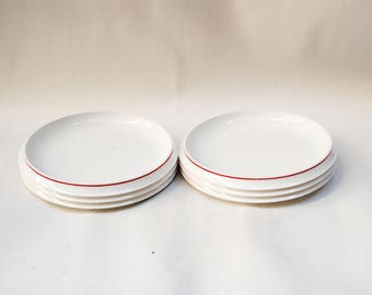 melamine plates desert fratteli guzzini melamine dishes desert serving plate camping plate equipment red stripe print - Melamine Dishes