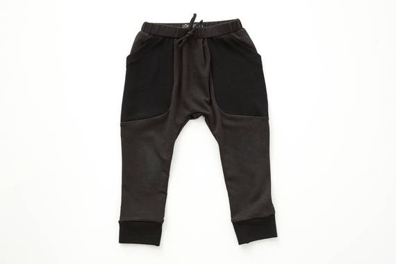 MOUFLON - plain pant like harem, low crotch, pockets - black