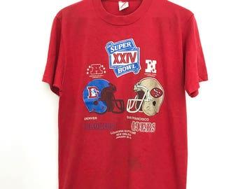 Vintage 1990 Super Bowl XXIV T-Shirt