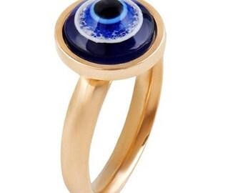 Evil Eye, Stainless Steel Evil Eye Ring