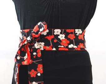 Obi belt fabric flowers japanese belt