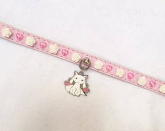 """11.5-13"""" Kyubey Faux Leather Buckled Collar"""