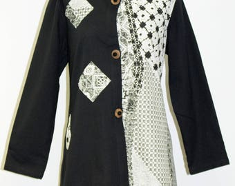 Asian Inspired Cotton Jacket - FA16-4818