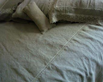 BED COVERLET Linen Bedspread  Twin Full Double Queen King size bedspread  linen duvet Linen Bed Cover by LUXOTEKS