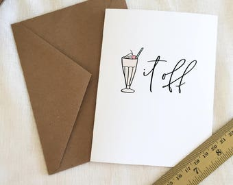 Greeting Card - 'Shake It Off' - Hand Lettered and Illustrated