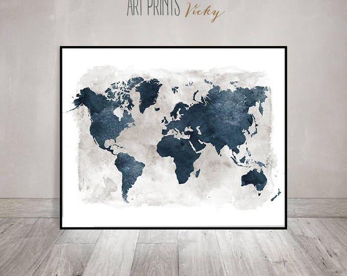 world map fine art print   ArtPrintsVicky.com