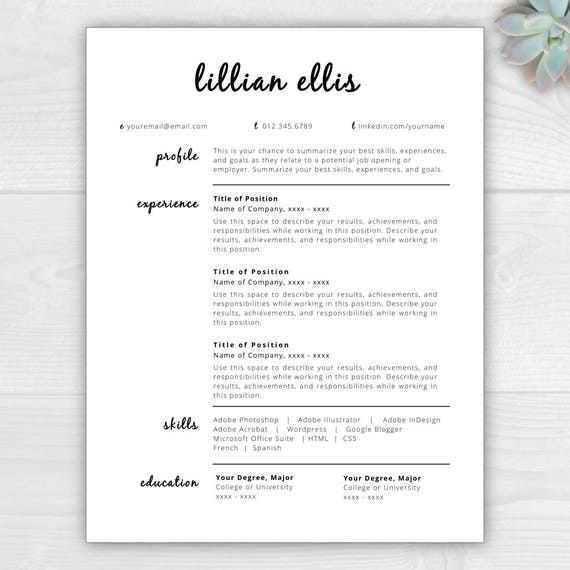 modern resume template cv template resume template word