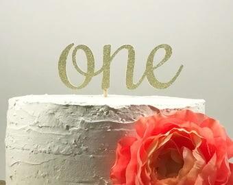 One Cake Topper, Cake Smash Topper, 1st Birthday Cake, First Birthday, Glitter One Topper, Silver Glitter, Number One, 1st Birthday Decor