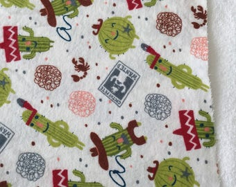 three pack cactus pete burp cloths