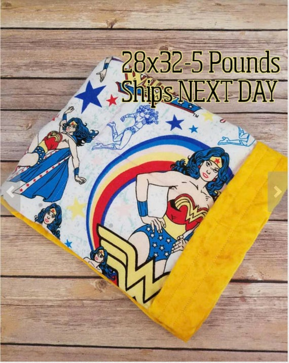 Super Hero, 5 Pound, WEIGHTED BLANKET, 5 pounds, 28x32, for Autism, Sensory, ADHD, Calming, Anxiety,